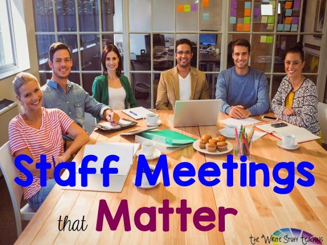 Staff Meetings That Matter