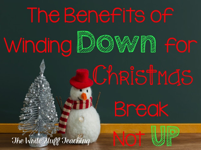 The Benefits of Winding Down for the Holiday Season