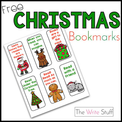 Free Christmas Reading Bookmarks