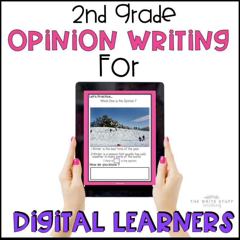 How to Teach 2nd Grade Opinion Writing in a Digital World