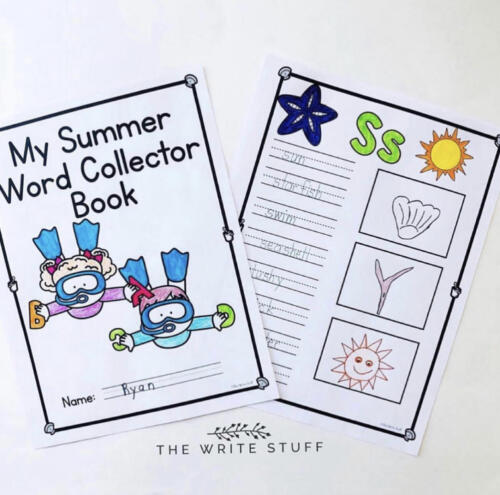 Summer Word and Number Collector Books